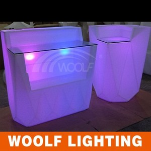 Led illuminated bar light up table/stand up bar table/magnetic LED light bar