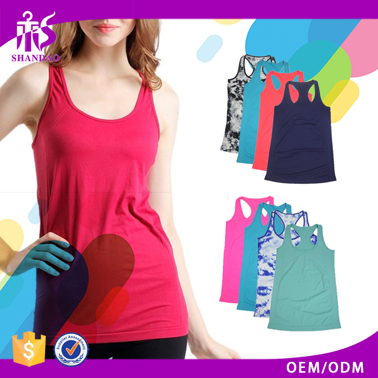 2017 Guangzhou Shandao Popular Series 100% Cotton Cheap Custom Womens Gym Singlets