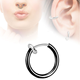 15 mm Wide Spring Nose Piercing Fake Septum Non Piercing Glue Navel Rings