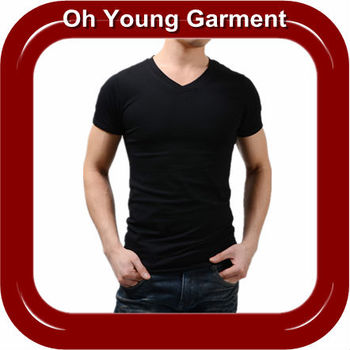Mens Plain T Shirts Clothes Custom Made Cotton Black Blank Plain T ...