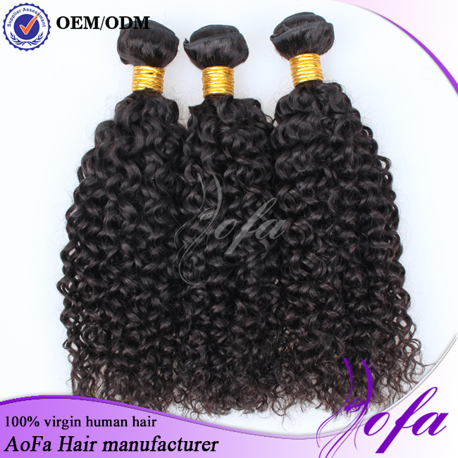 factory supply Wholesale cheap 100% virgin brazilian kinky curly braiding hair