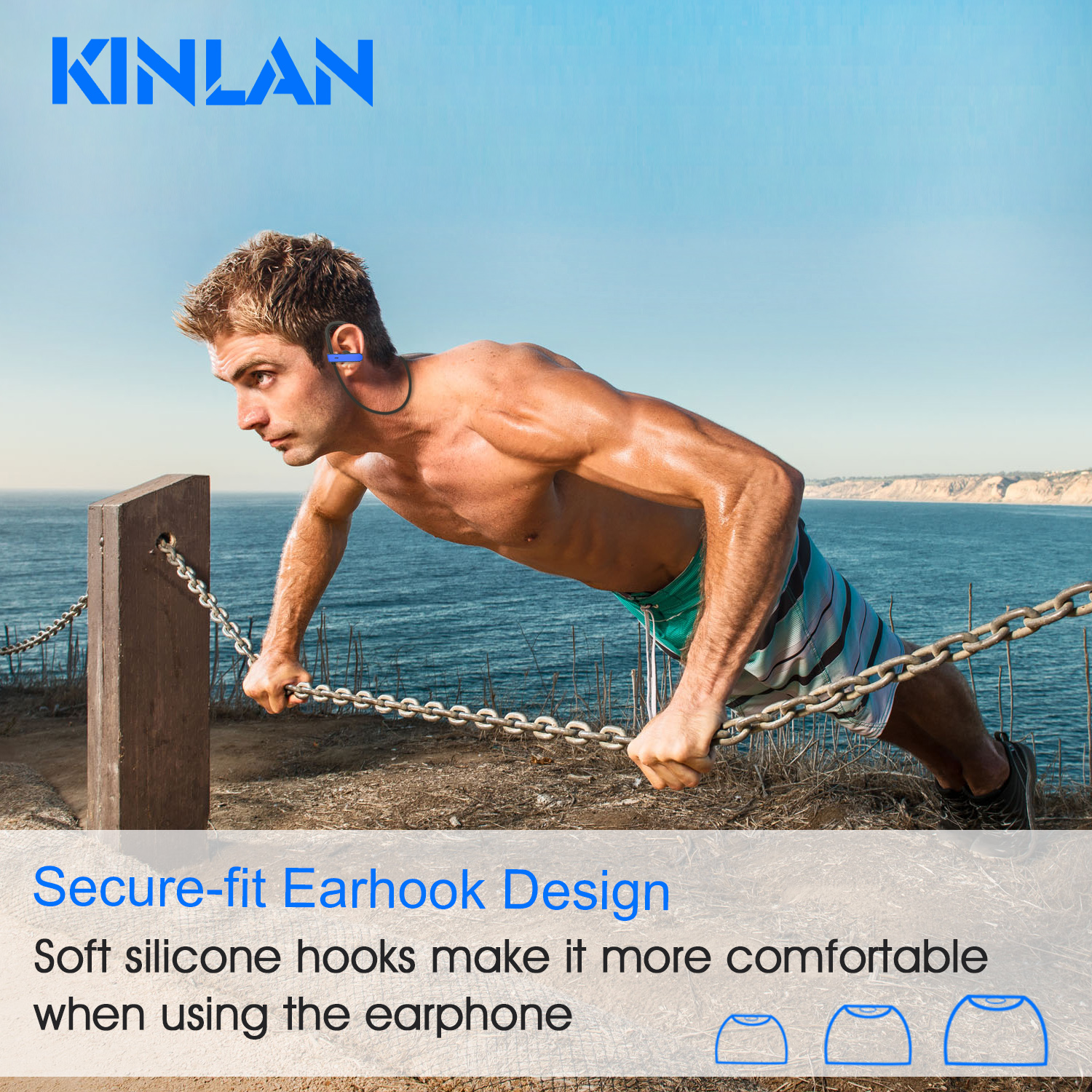 Sports Bluetooth Earphones, Waterproof Bluetooth Earbuds, HD Sound Music Bluetooth Headsets