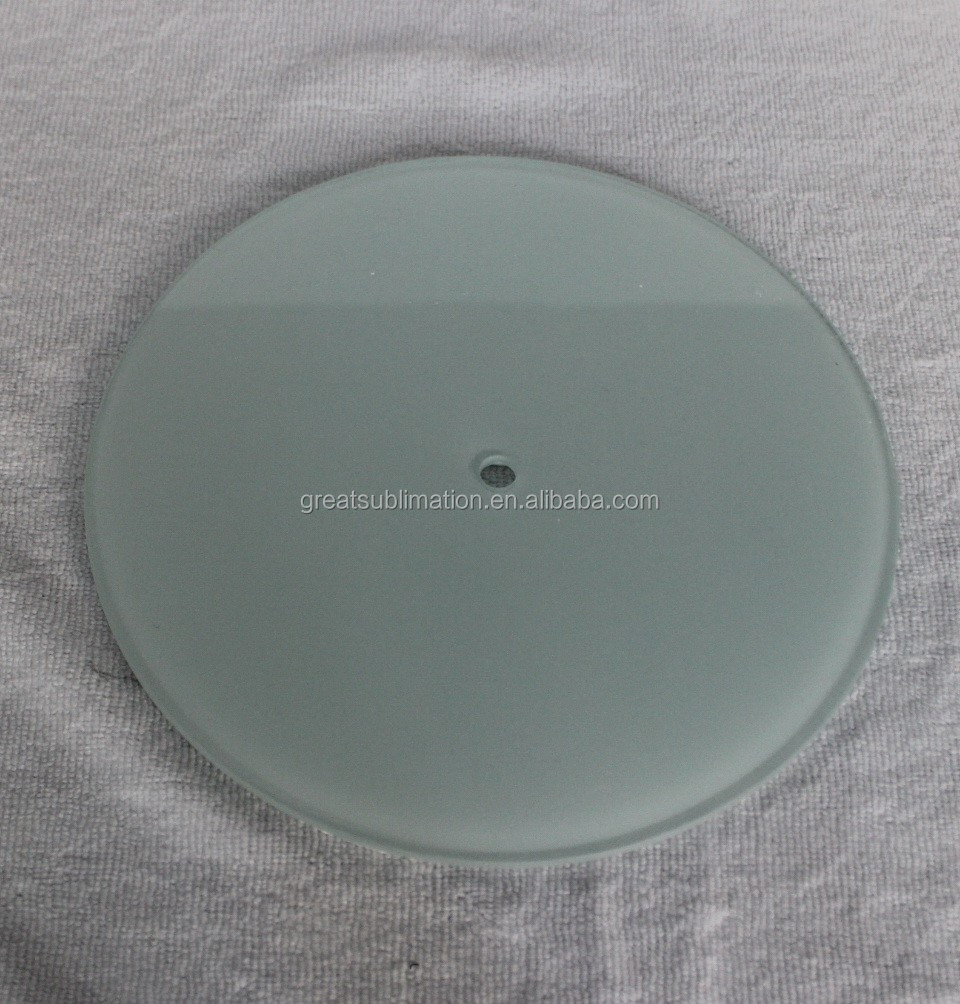 Sublimation Round Shape Blank Smooth Surface Tempered