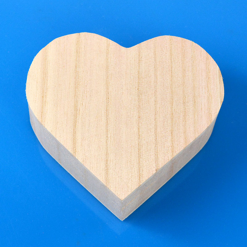 High Quality Custom Handmade creative Crafts Toys Love Heart Shape Wooden Jewelry <strong>Box</strong>