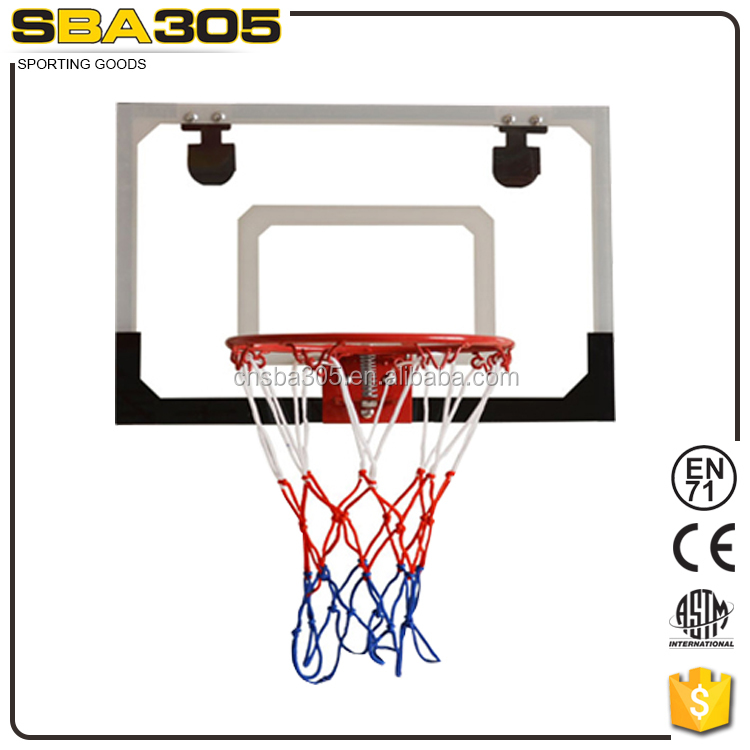 children basketball ring and backboard for door