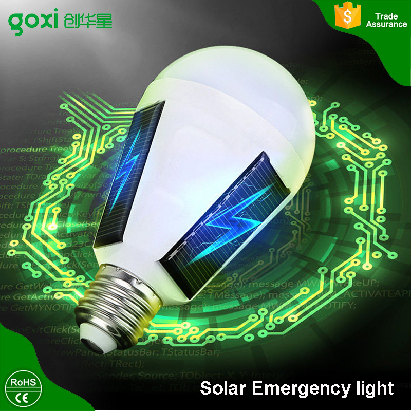 Factory Direct Rechargeable LED Emergency Hanging Solar Power Lamp Light Bulb