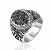 Factory cheap price black zirconium wedding ring