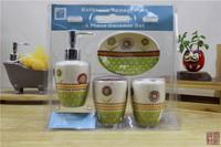 Customized bathromm accessories 4pcs ceramic set