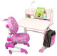 Ergonomic baby study table and chaire for girl children sitting