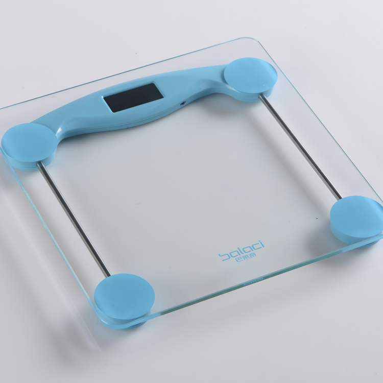 EB8026 180kg/0.1kg 6mm tempered glass platform personal scale electronic body scale bathroom scale mechanical