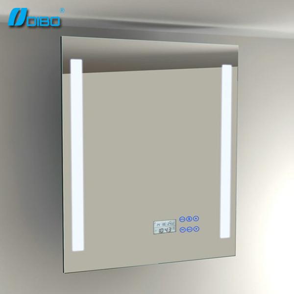 Bathroom Smart Mirror With MP3 Bluetooth Radio Clock Temperature