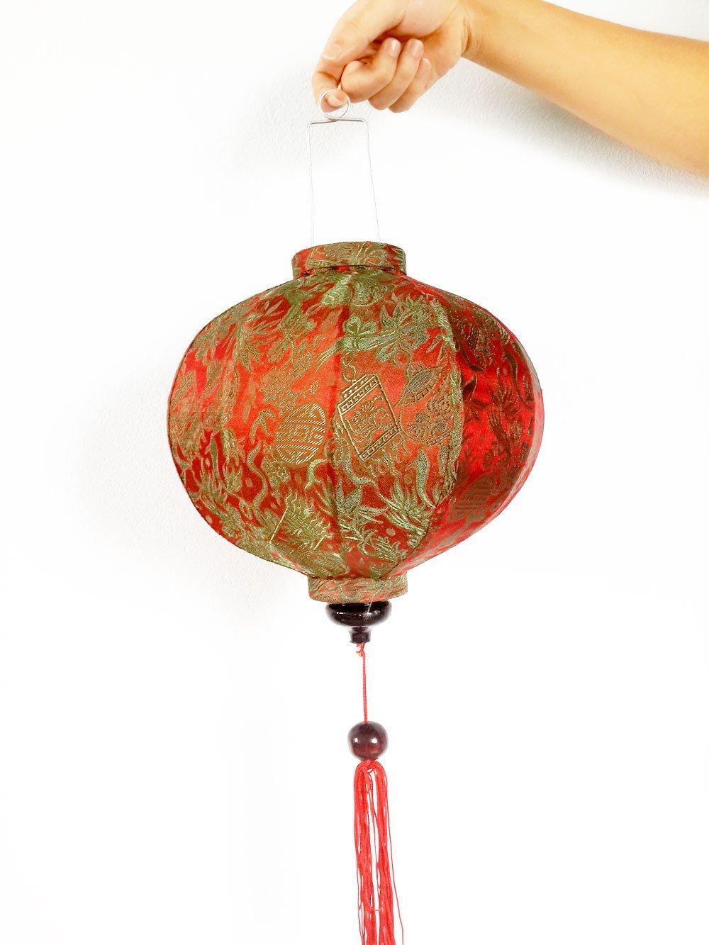 Buy Lot of 4 Silk Lanterns 35cm (14'') - Garlic Shape ...