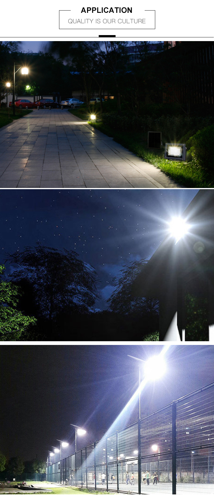 High power IP65 im freien wasserdichte 10w 20w 30w 50w 100w solar LED Flut lampe