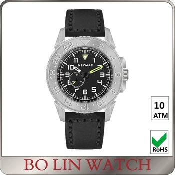 Italy Genuine Leather Full Titanium Automatic Watches For Mens Time Display