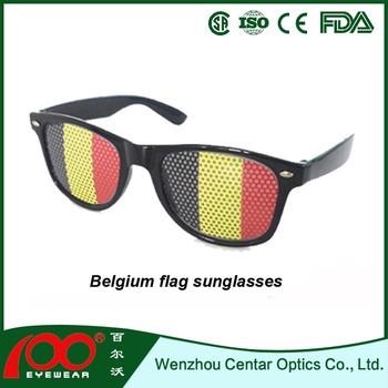 Belgium Flag Sungles Custom Logo Printed Lenses No Minimum