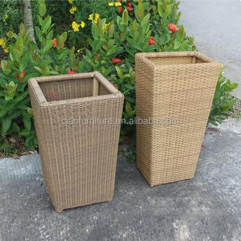 Fioriere Per Esterno Plastica.Giardino In Plastica Rattan Vaso Di Fiori Fioriere Per Esterni Buy