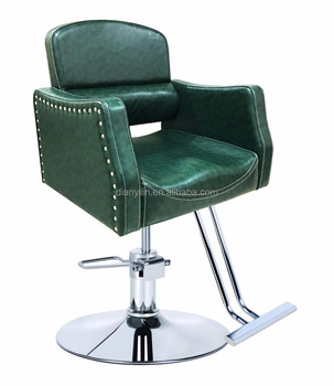 China Suppliers Wholesale Hair Salon Equipment Green Simple vintage Hair Salon Styling Barber Chairs 979
