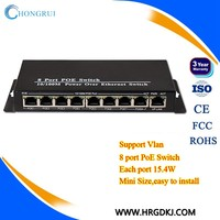 Factory price 10/100mbps 48v unmanaged 5 port mini ethernet poe switch for ip camera