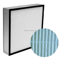 Customized Industrial HVAC/Cleanroom/AHU used H13 H14 U15 HEPA /ULPA Pleated Air Filter