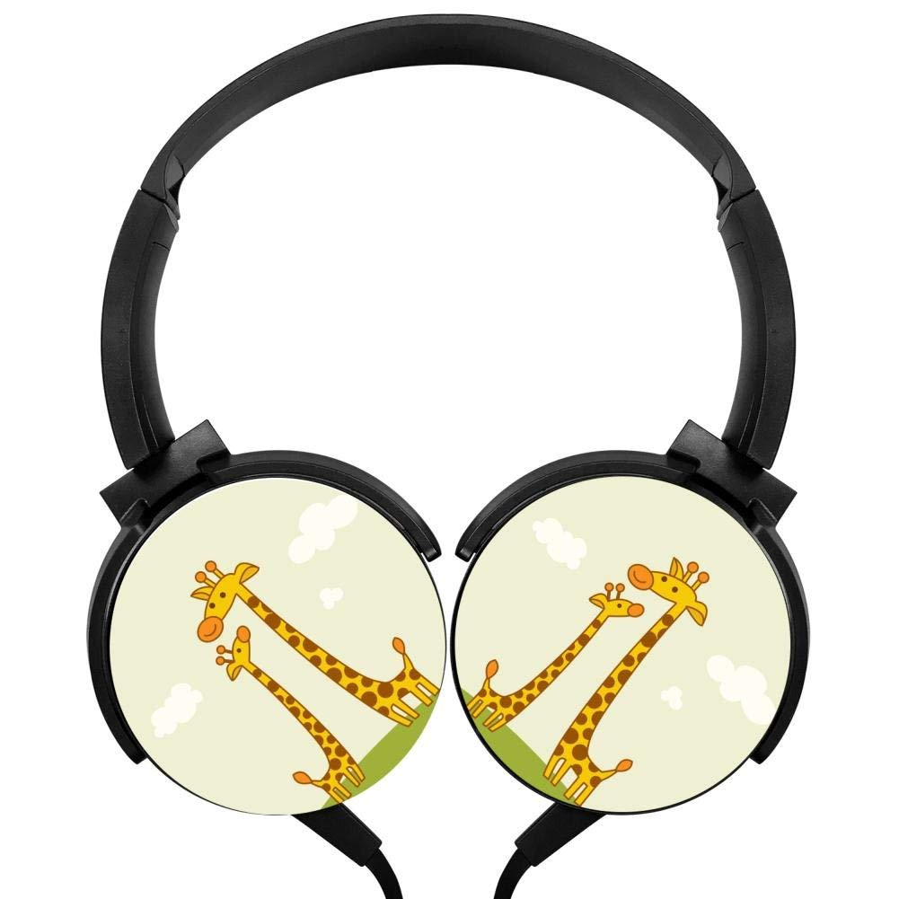 Xerjij Giraffe Wired Stereo Headset Bass Headphones for Computers Mobile Devices