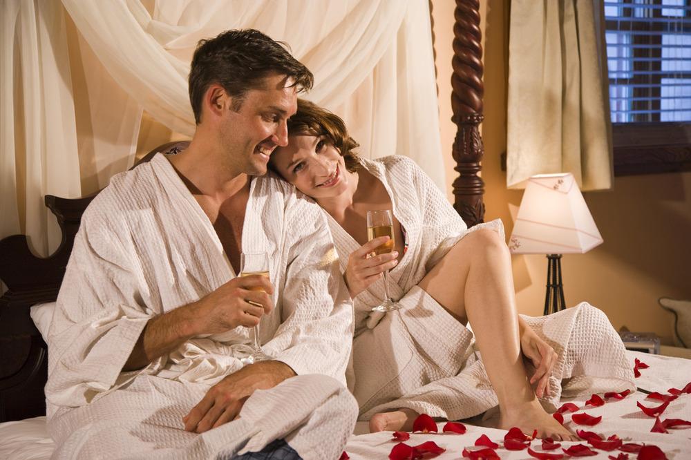 Winter Luxury Sexy Couple Bathrobe
