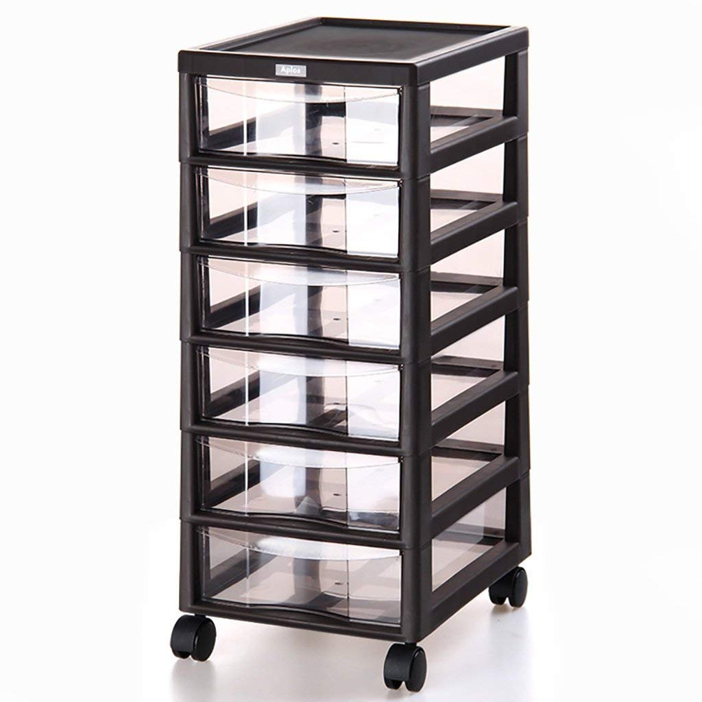 Wanli666 Rolling Storage Cabinet With Drawers Unit Cupboard Plastic Filing Wheels Home