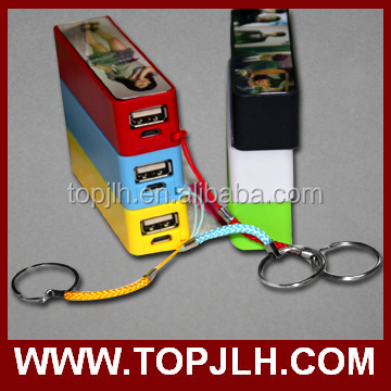 High quality sublimation photo printing mobile phone power bank