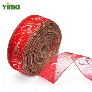 hot sale mix style red christmas gift christmas decoration ribbon