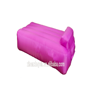 Purple Color Sofa Bed Design Inflatable Lounger Couch With Pillow