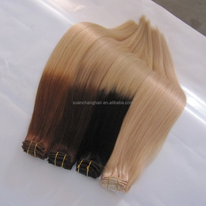 ombrey color remy human hair,2 tone brazilian hair weving