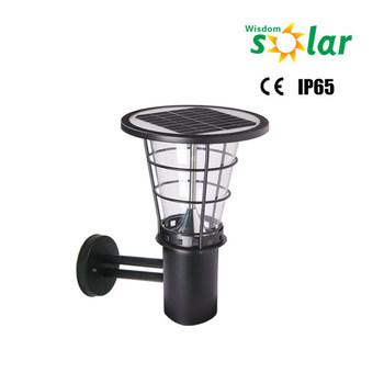 Led Solar Ed Wall Mount Lantern Light Outdoor Landscape Garden Fence Lamp Jr 2602