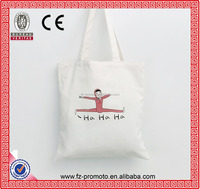Reusable Canvas Shopping Female Bags Simple Design Wholesale White Bags
