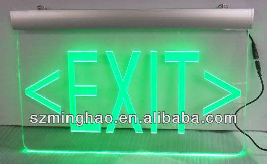 Edge-lit Acrylic Led Exit Sign /emergency Exit Sign