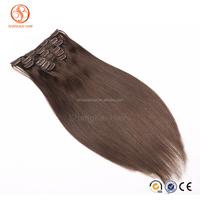 Cheap Factory Wholesale Price Clip in Hair Extensions 7pieces 16clips Full Head Set