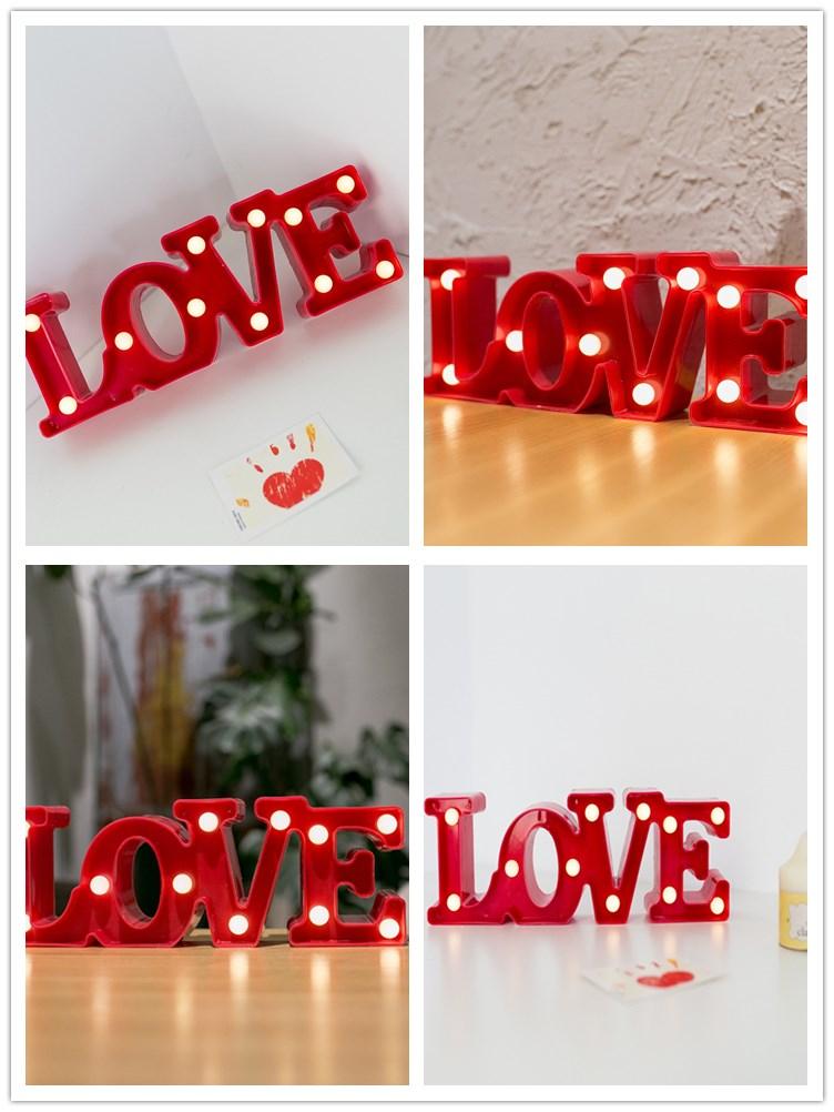Baterai Powered Romantis Surat Cinta Sempurna Untuk Pernikahandekorasi Natal Atau Valentine Hadiah Buy Terbaru Pernikahan Dekorasisurat
