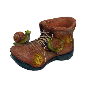 c5d511ce37e Fairy Resin Boot Planter Garden Flower Pot