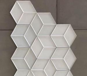 Hexagon concrete tiles tips dining room deco Honeycomb Mosaic concrete tiles