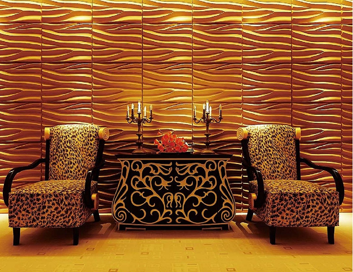 Affordable Home Innovations Modern Seawave 3d Wall Panels Eco-friendly 32 Sq Ft