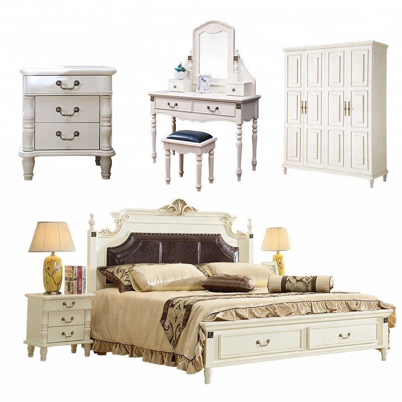 Luxury Classic Bedroom Furniture Antique Hand Carved Wooden King Size 6  Piece Bedroom Set - Buy King Size Wooden Bedroom Set,Classic Luxury Bedroom  ...