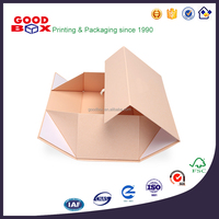 Premium magnetic top-opening collapsible rigid box for gift packaging