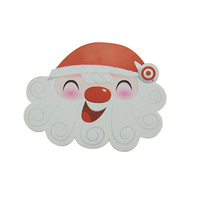 Customized Plastic Card Die Cut Christmas Greeting Card