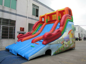 Outdoor Playground Type and PVC tarpaulin Material jumping castles inflatable water slide