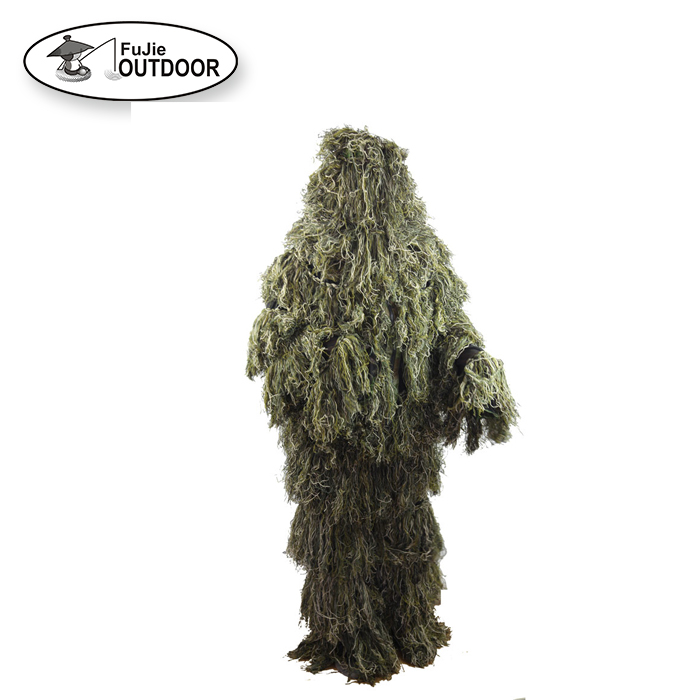 2020 Durable Forest Product Mesh Lining 3D Camo Ghillie Suit for Hunting