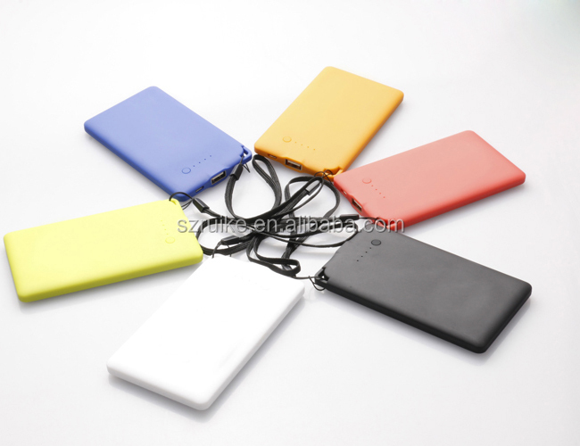 Super Slim mobile power supply, promotional 4000mah power bank
