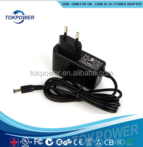 high quality digital products power adapter 7v 1.5A 10.5w power supply UL CE/GS, CCC certification