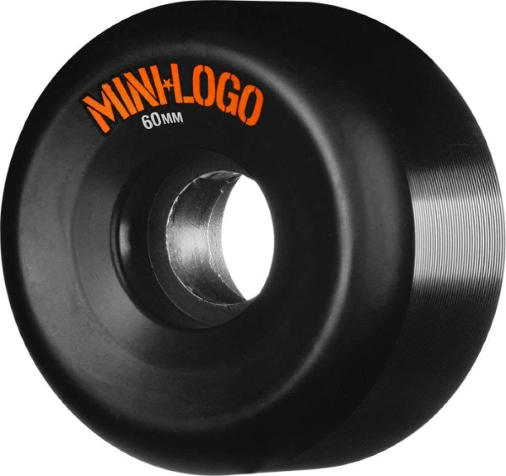 Mini Logo A-Cut Black Skateboard Wheels - 60mm 101a (Set of 4)