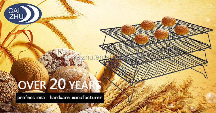 top quality 3 tiers stackable wire cake baking rack cooling rack