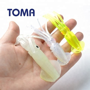 TOMA Soft Artificial Silicone Baits Squid Luminous Bass Fishing Lures