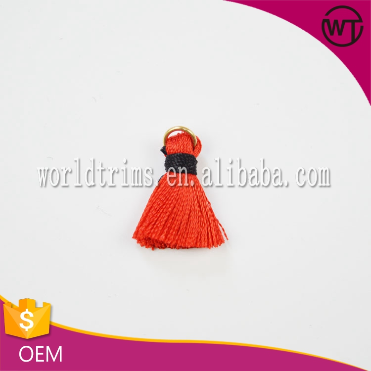 2016 fashion 2cm length red polyester small tassel wholesale