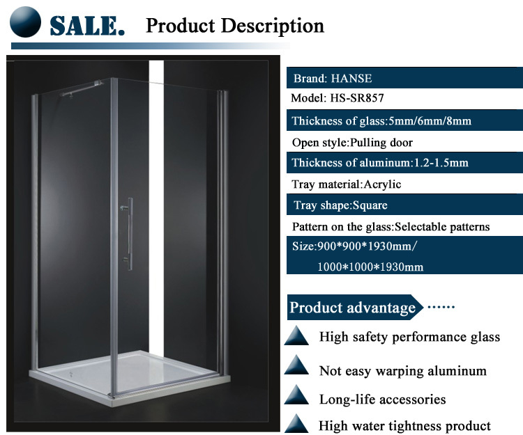 HS-SR857 four side cubicle/ frameless shower stall/ fully enclosed shower cubicle